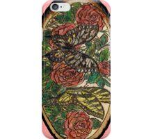 butterflies n roses iPhone Case/Skin
