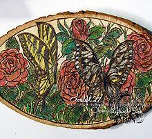 butterflies n roses by LoreLeft27