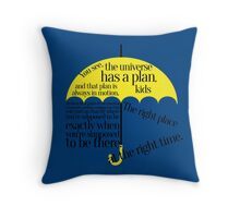 The right place at the right time Throw Pillow