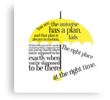 The right place at the right time Metal Print