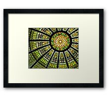 *Stained Glass Dome* Framed Print