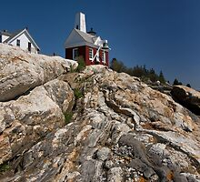 A Cloudless Day at Pemaquid Light House by EvaMcDermott