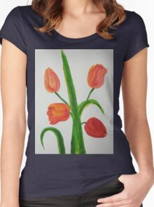 Just Tulips Women's Fitted Scoop T-Shirt