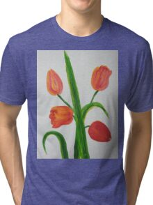 Just Tulips Tri-blend T-Shirt