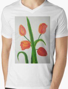 Just Tulips Mens V-Neck T-Shirt