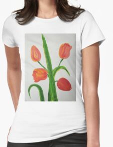 Just Tulips Womens Fitted T-Shirt