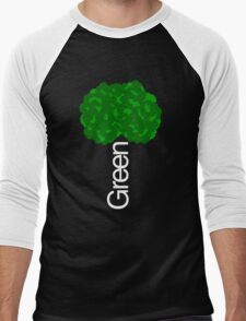 Green Tree II Men's Baseball ¾ T-Shirt