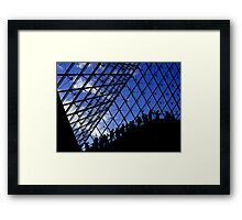 Lines and Sky of the Louvre Framed Print