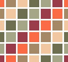 Retro Squares Pattern by Sol Noir Studios