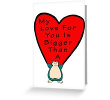 Snorlax Love Greeting Card