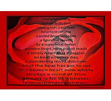 A Beating Heart Lay Resting - Greeting Card Photographic Print