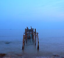 Broken pier to nowhere by eugeneyong