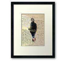 get sherlock Framed Print