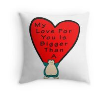 Snorlax Love Throw Pillow