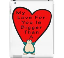 Snorlax Love iPad Case/Skin