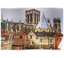 The Minster from the City Walls Poster