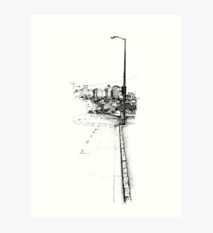 Paddington Streetscape Art Print