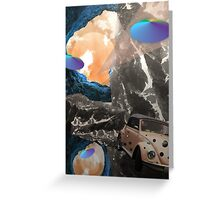 Trip to space Greeting Card