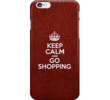 Keep Calm and Go Shopping - Glossy Red Leather iPhone Case/Skin