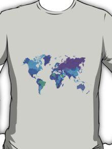 World Map Colourful T-Shirt