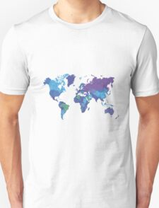 World Map Colourful T-Shirt