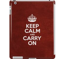 Keep Calm and Carry On - Glossy Red Leather iPad Case/Skin