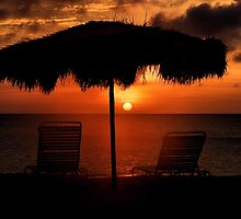 Eagle Beach Sunset by DJ Florek