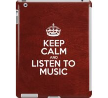 Keep Calm and Listen to Music - Glossy Red Leather iPad Case/Skin