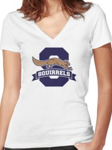 Squirrels 2015 Women's Fitted V-Neck T-Shirt