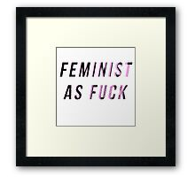 Feminist As Heck Framed Print
