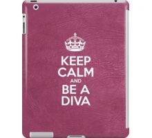 Keep Calm and Be a Diva - Glossy Pink Leather iPad Case/Skin