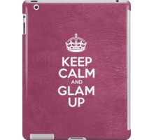 Keep Calm and Glam Up - Glossy Pink Leather iPad Case/Skin