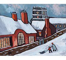 English village snowscene Photographic Print