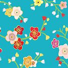 Chinese Flowers by Bronya