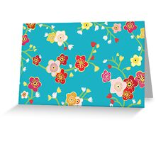 Chinese Flowers Greeting Card