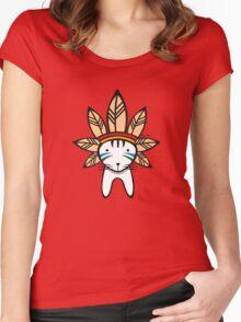 Mohawk Cat Women's Fitted Scoop T-Shirt