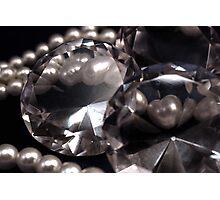 Diamonds 'n Pearls Photographic Print