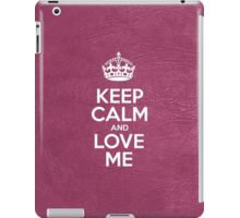 Keep Calm and Love Me - Glossy Pink Leather iPad Case/Skin