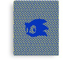 Sonic and Rings Design (Transperant Background) Canvas Print