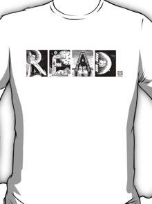 Read! Retro Science Fiction Rocket Alphabet Letter design T-Shirt