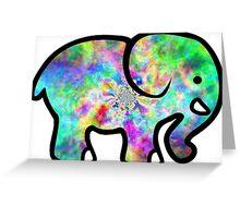 Trippy Elephant Greeting Card