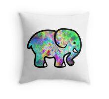 Trippy Elephant Throw Pillow