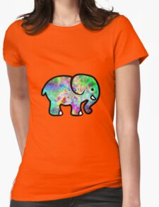 Trippy Elephant Womens Fitted T-Shirt