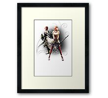 Final Fantasy XIII-2 - Lightning (Claire Farron) and Serah Farron Framed Print