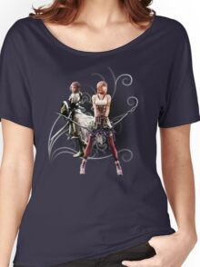 Final Fantasy XIII-2 - Lightning (Claire Farron) and Serah Farron Women's Relaxed Fit T-Shirt