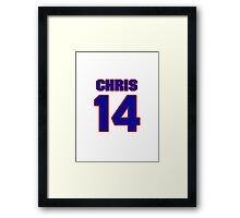 Basketball player Chris McNealy jersey 14 Framed Print