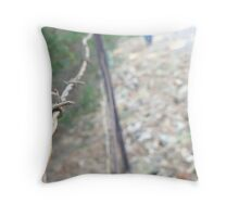 Walking the Line of Freedom Throw Pillow
