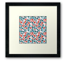 Funny hearts pattern Framed Print