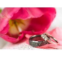 Wedding Rings Photographic Print