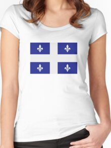 Quebec flag Women's Fitted Scoop T-Shirt